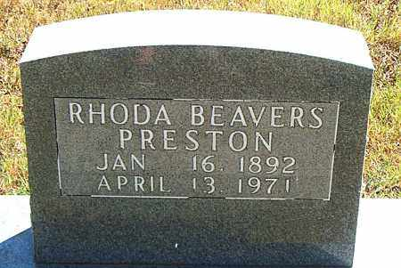 PRESTON, RHODA - Boone County, Arkansas | RHODA PRESTON - Arkansas Gravestone Photos