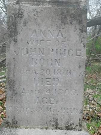 PRICE, ANNA - Boone County, Arkansas | ANNA PRICE - Arkansas Gravestone Photos