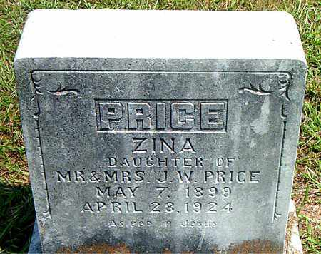 PRICE, ZINA - Boone County, Arkansas | ZINA PRICE - Arkansas Gravestone Photos