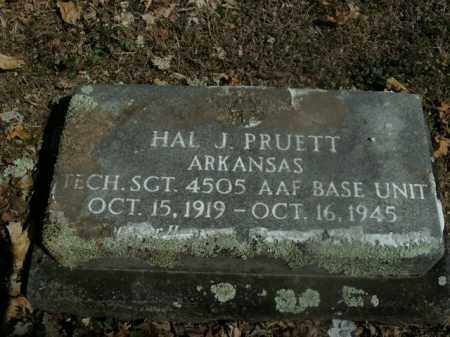 PRUETT  (VETERAN), HAL J - Boone County, Arkansas | HAL J PRUETT  (VETERAN) - Arkansas Gravestone Photos