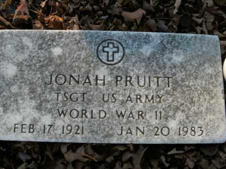 PRUITT  (VETERAN WWII), JONAH - Boone County, Arkansas | JONAH PRUITT  (VETERAN WWII) - Arkansas Gravestone Photos
