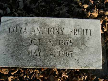 PRUITT, CORA ANTHONY - Boone County, Arkansas | CORA ANTHONY PRUITT - Arkansas Gravestone Photos