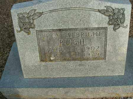 ALBRIGHT PUGH, LUCY - Boone County, Arkansas | LUCY ALBRIGHT PUGH - Arkansas Gravestone Photos
