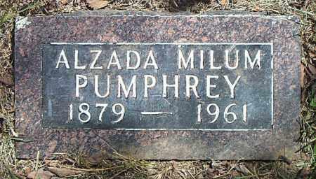 MILUM PUMPHREY, ALZADA - Boone County, Arkansas | ALZADA MILUM PUMPHREY - Arkansas Gravestone Photos