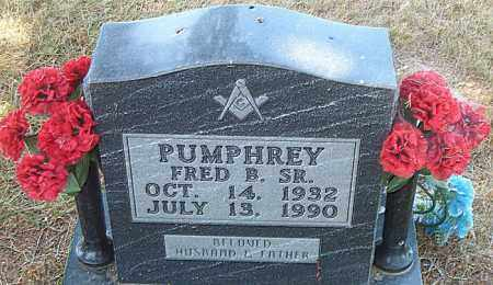 PUMPHREY, FRED B.  SR. - Boone County, Arkansas | FRED B.  SR. PUMPHREY - Arkansas Gravestone Photos