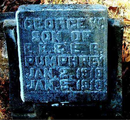 PUMPHREY, GEORGE  W. - Boone County, Arkansas | GEORGE  W. PUMPHREY - Arkansas Gravestone Photos