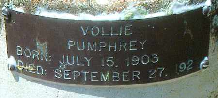 PUMPHREY, VOLLIE - Boone County, Arkansas | VOLLIE PUMPHREY - Arkansas Gravestone Photos