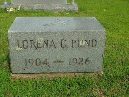 PUND, LORENA C. - Boone County, Arkansas | LORENA C. PUND - Arkansas Gravestone Photos