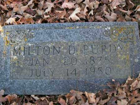 PURDY, MILTON D. - Boone County, Arkansas | MILTON D. PURDY - Arkansas Gravestone Photos