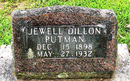 DILLON PUTMAN, JEWELL - Boone County, Arkansas | JEWELL DILLON PUTMAN - Arkansas Gravestone Photos