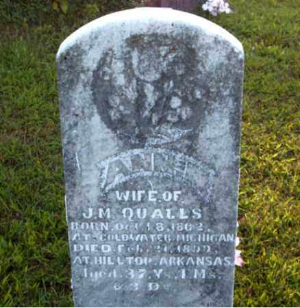 QUALLS, ANNIE  M. - Boone County, Arkansas | ANNIE  M. QUALLS - Arkansas Gravestone Photos