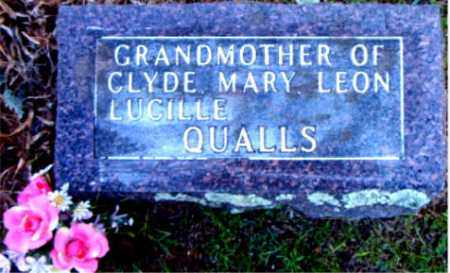 QUALLS, LUCILLE - Boone County, Arkansas | LUCILLE QUALLS - Arkansas Gravestone Photos