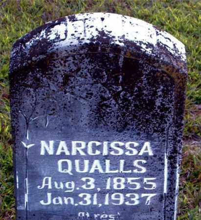 QUALLS, NARCISSA - Boone County, Arkansas | NARCISSA QUALLS - Arkansas Gravestone Photos