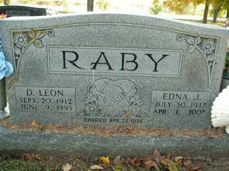 RABY, EDNA J. - Boone County, Arkansas | EDNA J. RABY - Arkansas Gravestone Photos