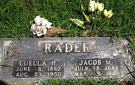 RADER, JACOB M - Boone County, Arkansas | JACOB M RADER - Arkansas Gravestone Photos