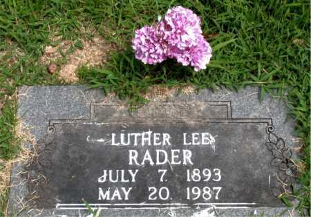 RADER, LUTHER LEE - Boone County, Arkansas | LUTHER LEE RADER - Arkansas Gravestone Photos