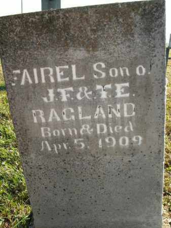 RAGLAND, FAIREL - Boone County, Arkansas | FAIREL RAGLAND - Arkansas Gravestone Photos