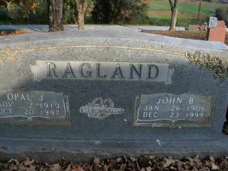 RAGLAND, JOHN B. - Boone County, Arkansas | JOHN B. RAGLAND - Arkansas Gravestone Photos