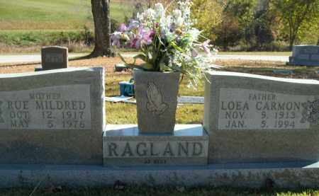RAGLAND, LOEA CARMON - Boone County, Arkansas | LOEA CARMON RAGLAND - Arkansas Gravestone Photos