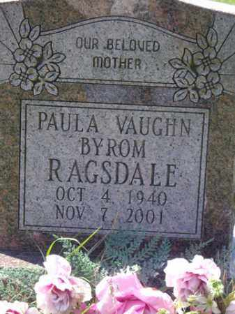 RAGSDALE, PAULA VAUGHN - Boone County, Arkansas | PAULA VAUGHN RAGSDALE - Arkansas Gravestone Photos
