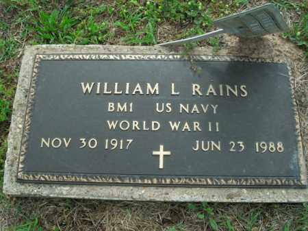 RAINS  (VETERAN WWII), WILLIAM L. - Boone County, Arkansas | WILLIAM L. RAINS  (VETERAN WWII) - Arkansas Gravestone Photos