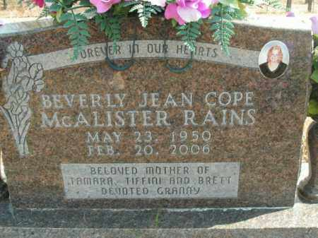 COPE RAINS, BEVERLY JEAN - Boone County, Arkansas | BEVERLY JEAN COPE RAINS - Arkansas Gravestone Photos