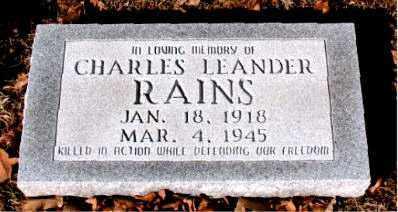 RAINS, CHARLES LEANDER - Boone County, Arkansas | CHARLES LEANDER RAINS - Arkansas Gravestone Photos