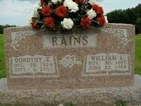 RAINS, WILLIAM LESTER - Boone County, Arkansas | WILLIAM LESTER RAINS - Arkansas Gravestone Photos