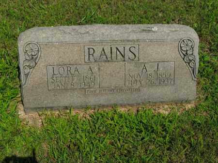 NADING RAINS, LORA ALICE - Boone County, Arkansas | LORA ALICE NADING RAINS - Arkansas Gravestone Photos