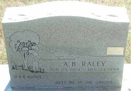 RALEY, A.  B. - Boone County, Arkansas | A.  B. RALEY - Arkansas Gravestone Photos