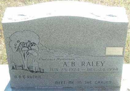 RALEY, A.  B. - Boone County, Arkansas   A.  B. RALEY - Arkansas Gravestone Photos