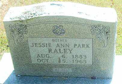 PARK RALEY, JESSIE ANN - Boone County, Arkansas | JESSIE ANN PARK RALEY - Arkansas Gravestone Photos