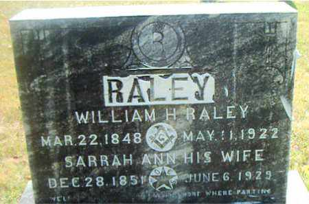 RALEY, WILLIAM  H. - Boone County, Arkansas | WILLIAM  H. RALEY - Arkansas Gravestone Photos