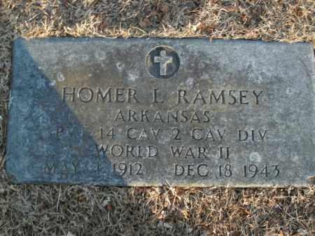 RAMSEY  (VETERAN WWII), HOMER L - Boone County, Arkansas   HOMER L RAMSEY  (VETERAN WWII) - Arkansas Gravestone Photos
