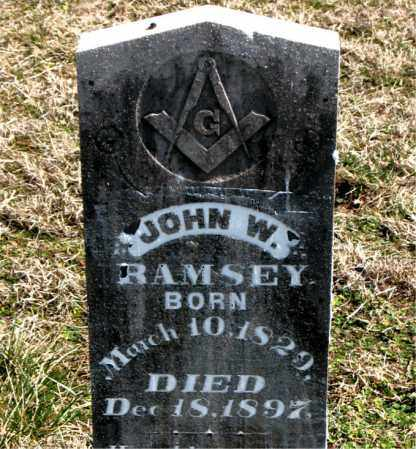 RAMSEY, JOHN W. - Boone County, Arkansas | JOHN W. RAMSEY - Arkansas Gravestone Photos