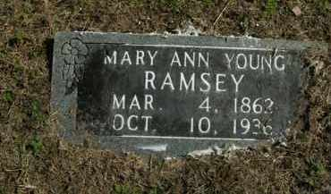 YOUNG RAMSEY, MARY ANN - Boone County, Arkansas | MARY ANN YOUNG RAMSEY - Arkansas Gravestone Photos