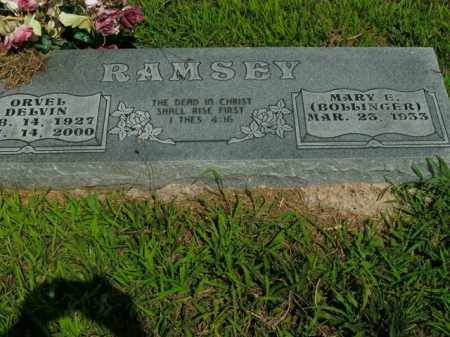 RAMSEY, ORVEL DELVIN - Boone County, Arkansas | ORVEL DELVIN RAMSEY - Arkansas Gravestone Photos