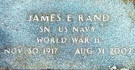 RAND  (VETERAN WWII), JAMES  E - Boone County, Arkansas | JAMES  E RAND  (VETERAN WWII) - Arkansas Gravestone Photos