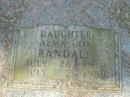 COX RANDALL, ALMA - Boone County, Arkansas | ALMA COX RANDALL - Arkansas Gravestone Photos