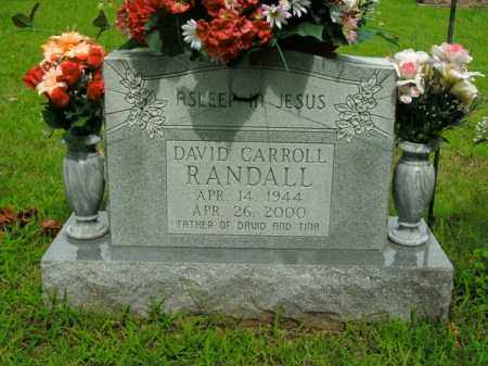 RANDALL, DAVID CARROLL - Boone County, Arkansas | DAVID CARROLL RANDALL - Arkansas Gravestone Photos