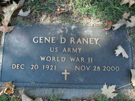 RANEY  (VETERAN WWII), GENE D - Boone County, Arkansas | GENE D RANEY  (VETERAN WWII) - Arkansas Gravestone Photos