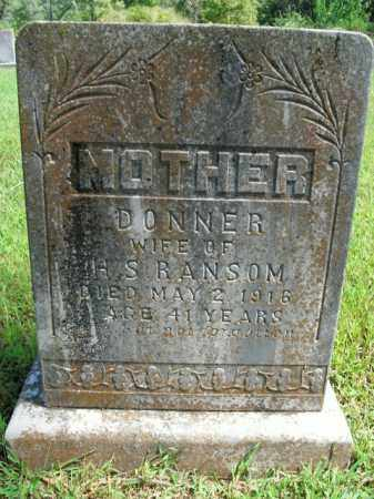 RANSOM, DONNER - Boone County, Arkansas | DONNER RANSOM - Arkansas Gravestone Photos