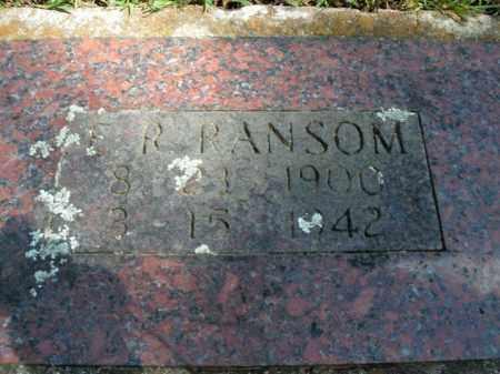 RANSOM, E.R. - Boone County, Arkansas | E.R. RANSOM - Arkansas Gravestone Photos