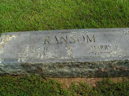 RANSOM, HARRY S. - Boone County, Arkansas | HARRY S. RANSOM - Arkansas Gravestone Photos