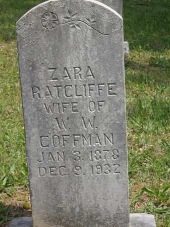 RATCLIFFE, ZARA - Boone County, Arkansas | ZARA RATCLIFFE - Arkansas Gravestone Photos