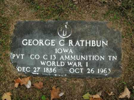 RATHBUN  (VETERAN WWI), GEORGE C - Boone County, Arkansas | GEORGE C RATHBUN  (VETERAN WWI) - Arkansas Gravestone Photos