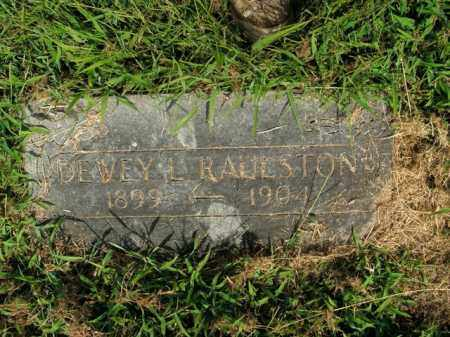 RAULSTON, DEWEY L. - Boone County, Arkansas | DEWEY L. RAULSTON - Arkansas Gravestone Photos