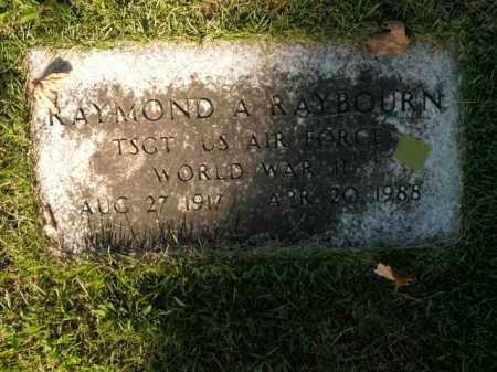RAYBOURN  (VETERAN WWII), RAYMOND A - Boone County, Arkansas | RAYMOND A RAYBOURN  (VETERAN WWII) - Arkansas Gravestone Photos