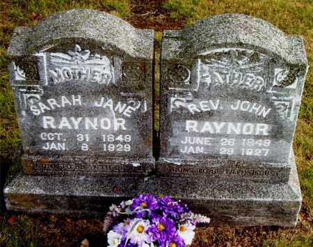 RAYNOR, SARAH JANE - Boone County, Arkansas | SARAH JANE RAYNOR - Arkansas Gravestone Photos