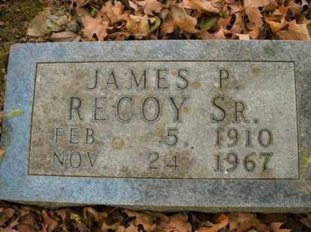 RECOY, SR, JAMES P. - Boone County, Arkansas | JAMES P. RECOY, SR - Arkansas Gravestone Photos